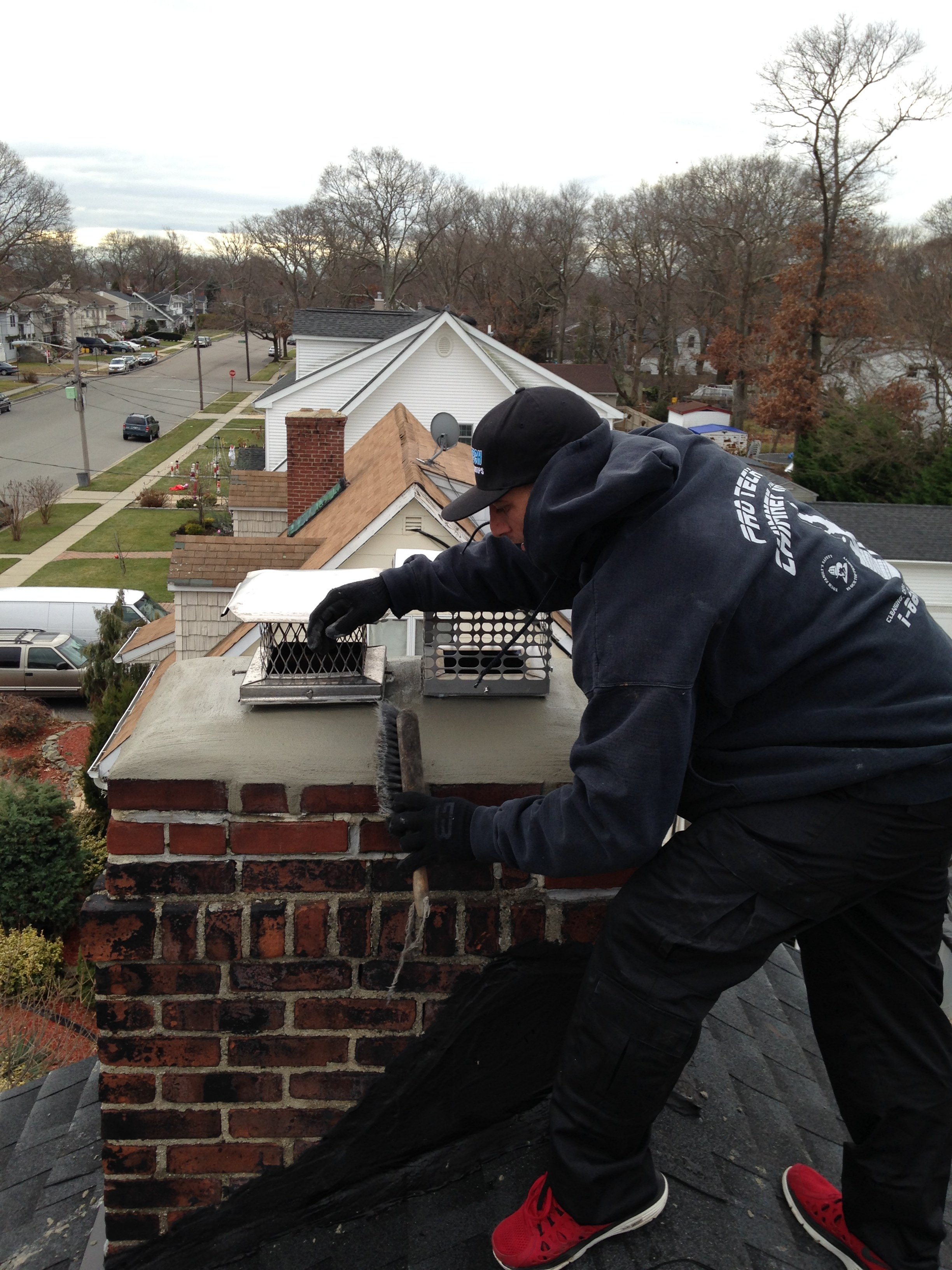 how to clean my fireplace flue