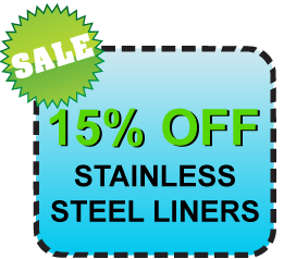 Sale – 15% OFF Stainless Steel Liners