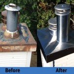Chimney Cleaning Service – Before and After Image 17