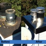 Chimney Cleaning Service – Before and After Image 13