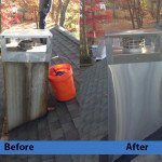 Chimney Cleaning Service – Before and After Image 11