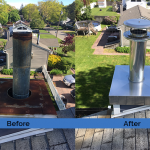 Chimney Cleaning Service – Before and After Image 02
