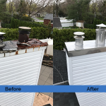Chimney Cleaning Service – Before and After Image 01